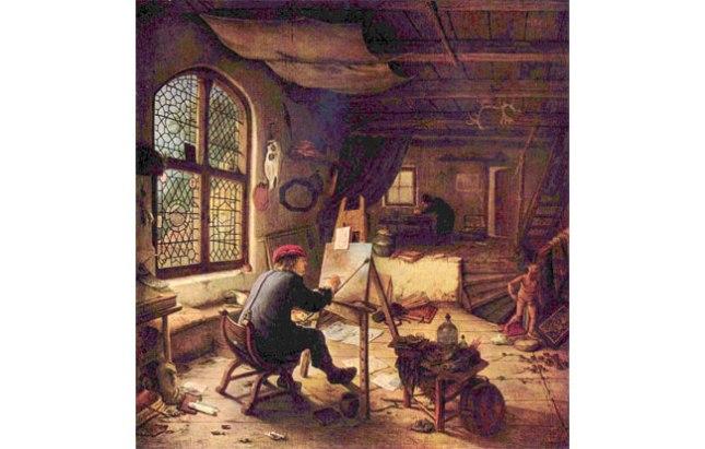 Геннадий Кацов СЛОВОСФЕРА  №64 Адриан ван Остаде, «Мастерская художника» (1663)