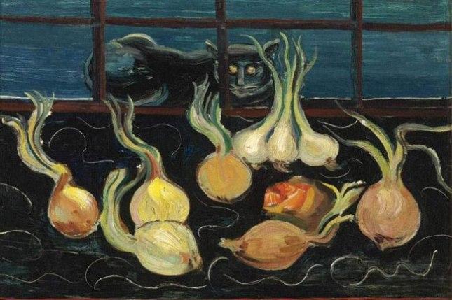 Геннадий Кацов СЛОВОСФЕРА №69 Борис Григорьев, «Натюрморт с кошкой и луком» (1928)