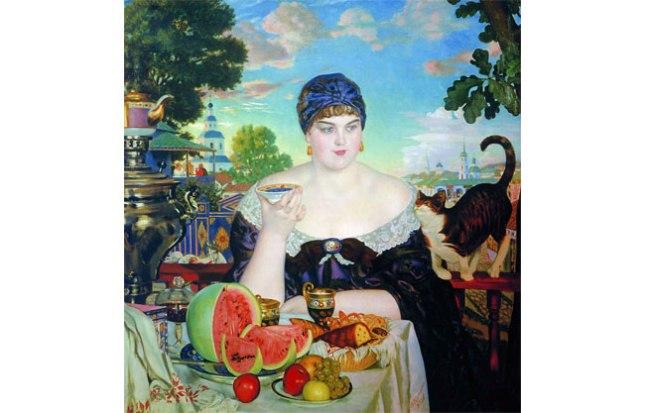 Геннадий Кацов СЛОВОСФЕРА №58 Борис Кустодиев, «Купчиха за чаем» (1918)