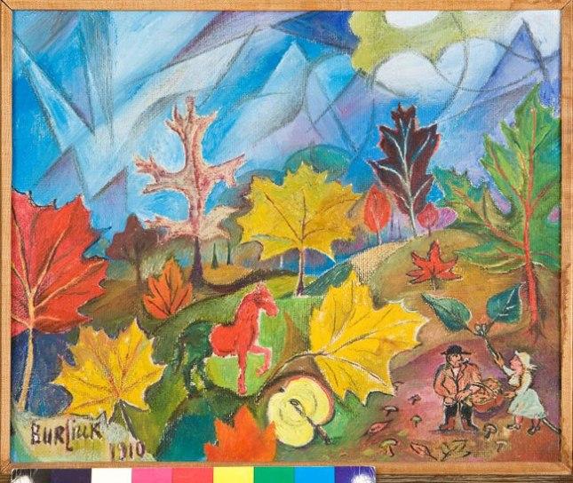 Геннадий Кацов СЛОВОСФЕРА №68 Давид Бурлюк, «Осенний лес» (1940)