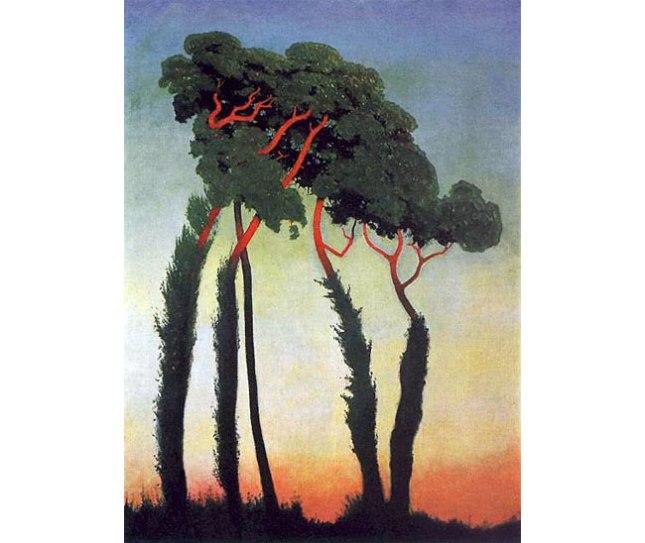 Геннадий Кацов СЛОВОСФЕРА №83 Феликс Валлоттон, «Пейзаж с деревьями» (1911)