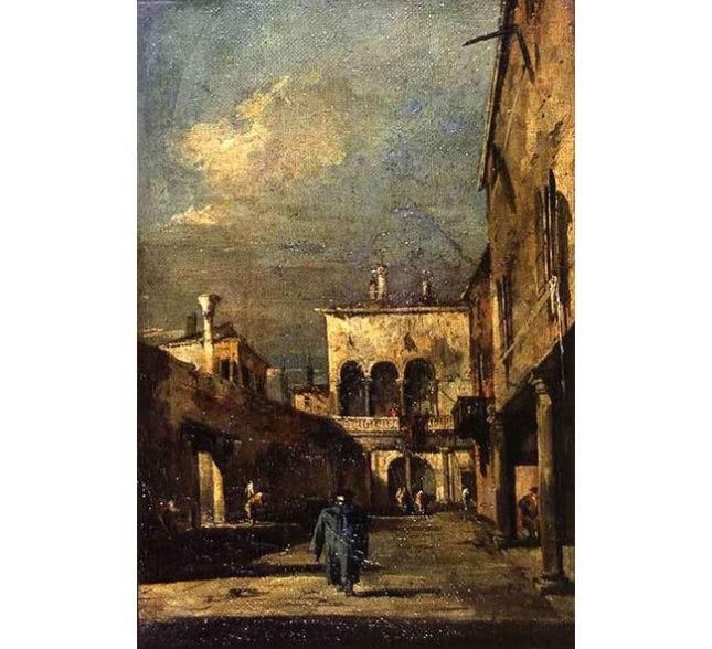 Геннадий Кацов СЛОВОСФЕРА №4 Франческо Гварди, «Венецианский дворик» (1770)