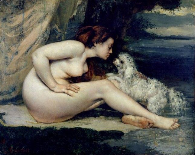 Геннадий Кацов СЛОВОСФЕРА №67 Гюстав Курбе, «Обнаженная дама с собачкой» (1868)