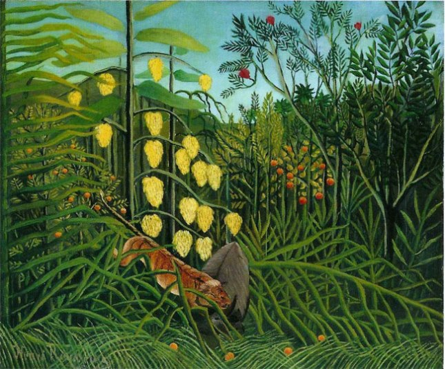 Геннадий Кацов СЛОВОСФЕРА  №43 Анри Руссо, «Нападение тигра на буйвола» (1908)