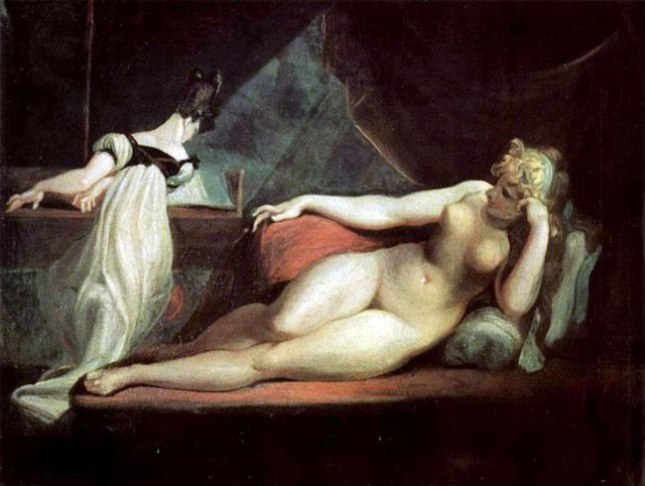 Геннадий Кацов СЛОВОСФЕРА №143 Генрих Иоганн Фюсли, «Обнаженная и пианистка» (1800)