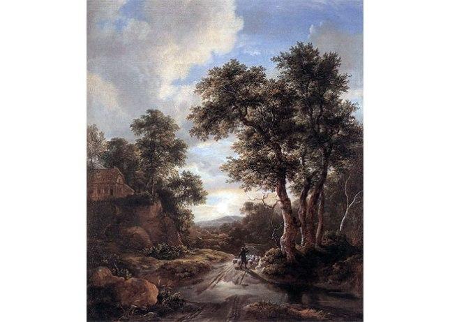 Геннадий Кацов СЛОВОСФЕРА №63 Якоб ван Рейсдал, «Рассвет в лесу» (1670)