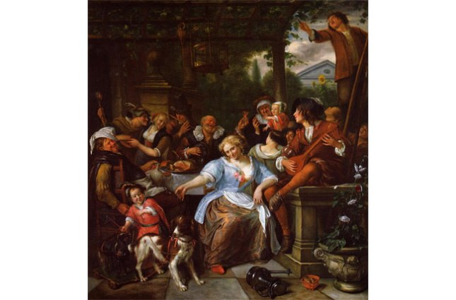 Геннадий Кацов СЛОВОСФЕРА №66 Ян Стен, «Веселая компания на веранде» (1673-1675)