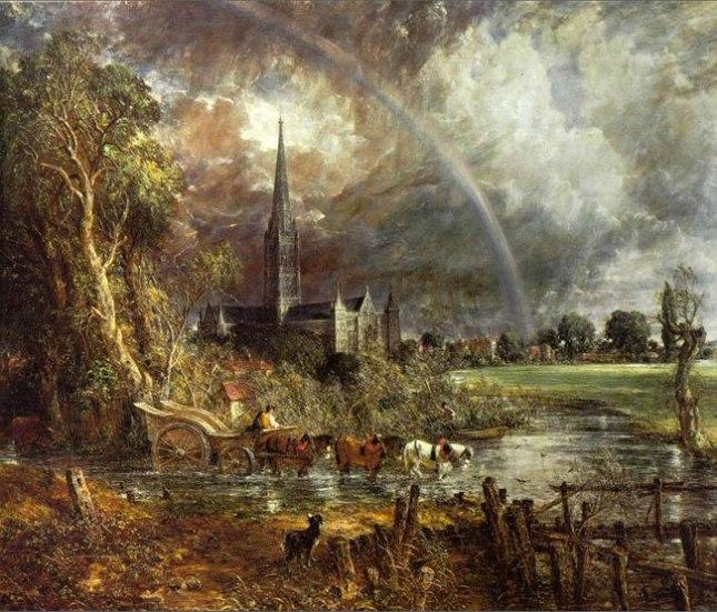 Геннадий Кацов СЛОВОСФЕРА №73 Джон Констебл, «Вид на Кафедральный собор Солсбери с луга» (1831)
