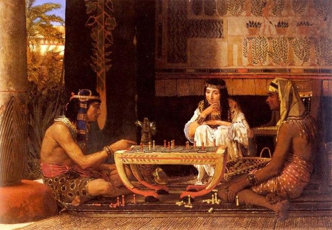 Геннадий Кацов СЛОВОСФЕРА №72 Лоуренс Альма-Тадема, «Египетские шахматисты» (1865)