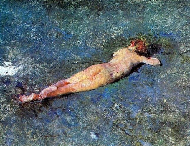 Геннадий Кацов СЛОВОСФЕРА №137 Мариано Фортуни-и-Карбо, «Обнаженный на пляже в Портичи» (1874)
