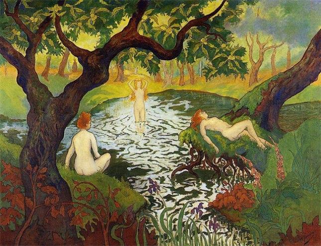 Геннадий Кацов СЛОВОСФЕРА №149 Поль Рансон, «Три купальщицы среди ирисов» (ок. 1900)