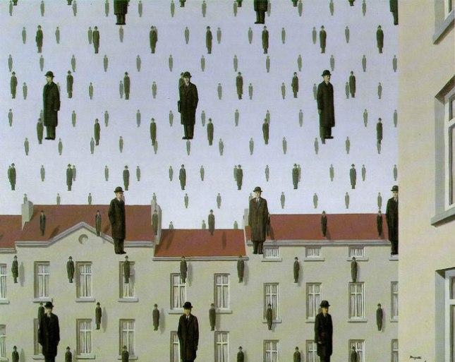 Геннадий Кацов СЛОВОСФЕРА №30 Рене Магритт, «Голконда» (1953)