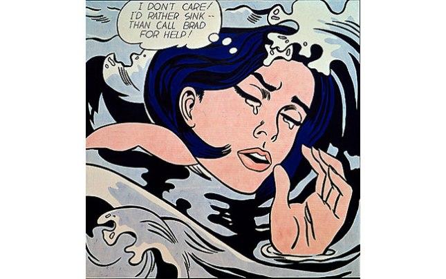 Геннадий Кацов СЛОВОСФЕРА №52 Рой Лихтенштейн, «Тонущая женщина» (1963)