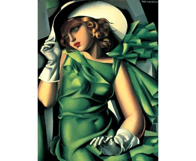 Геннадий Кацов СЛОВОСФЕРА №108 Тамара де Лемпицка (Лемпика), «Девушка в зеленом платье» (1927)