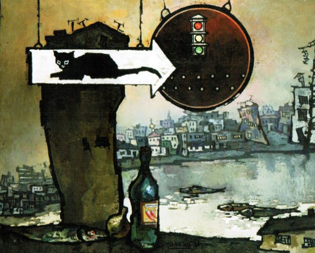 Геннадий Кацов СЛОВОСФЕРА №161 Оскар Рабин, «Черный кот» (1966)
