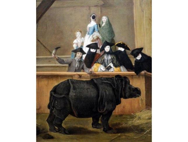 Геннадий Кацов СЛОВОСФЕРА №177 Пьетро Лонги, «Представление носорога в Венеции» (1751)