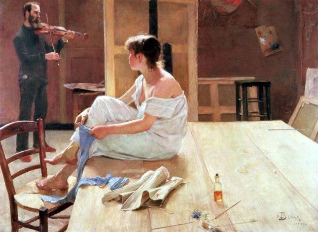 Геннадий Кацов СЛОВОСФЕРА №178 Свен Ричард Берг, «После позирования» (1884)